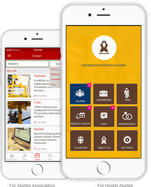 A tailor made Mobile App for your Alumni