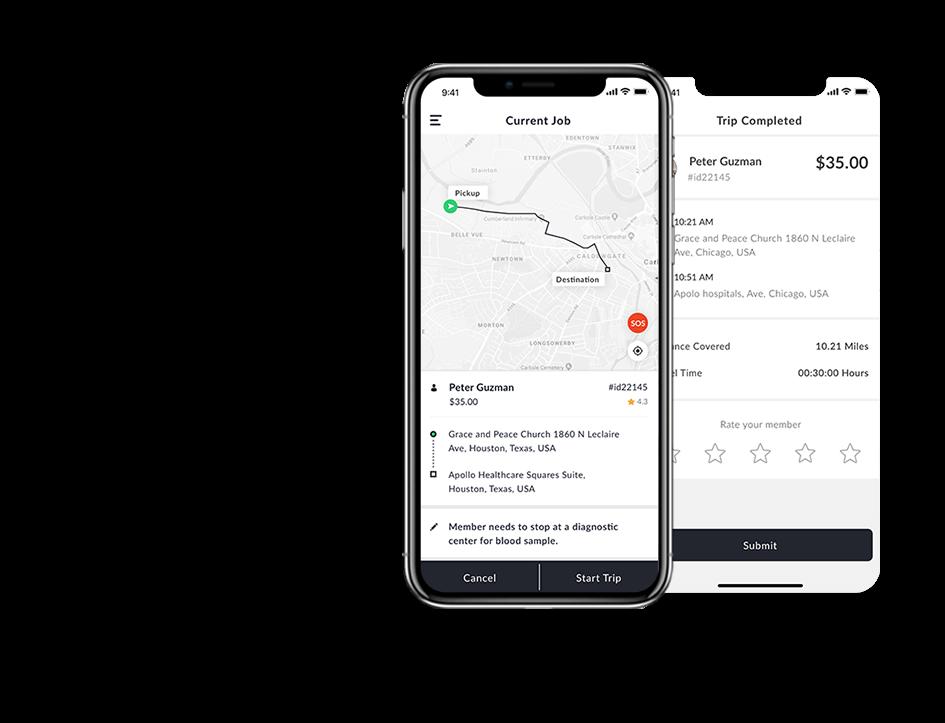 nemt software solution driver app by mobisoft infotech