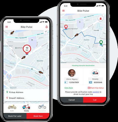 Bike Pulse Passenger App mobisoft infotech