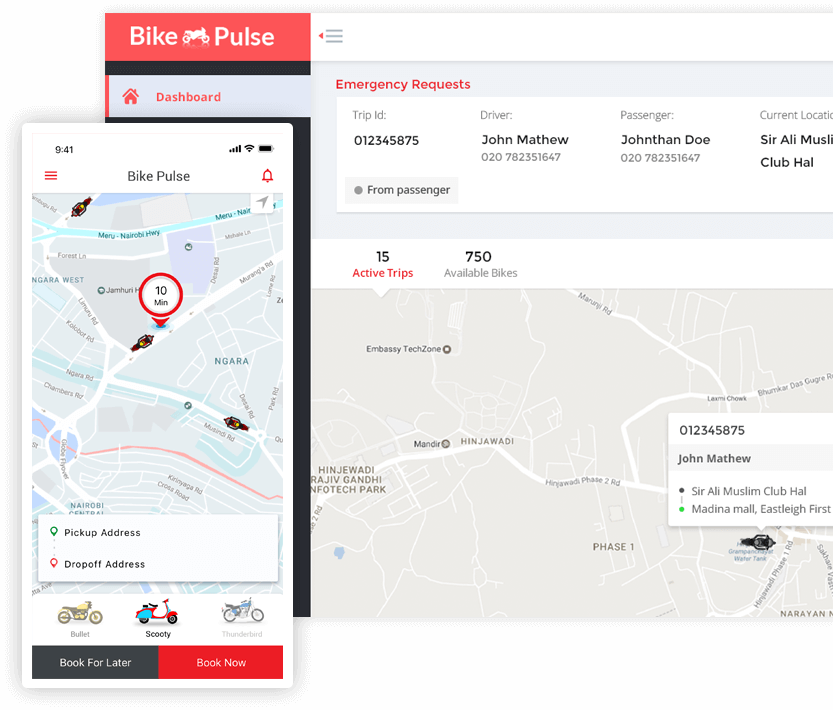 Bike Pulse app development solution implementation launch mobisoft infotech