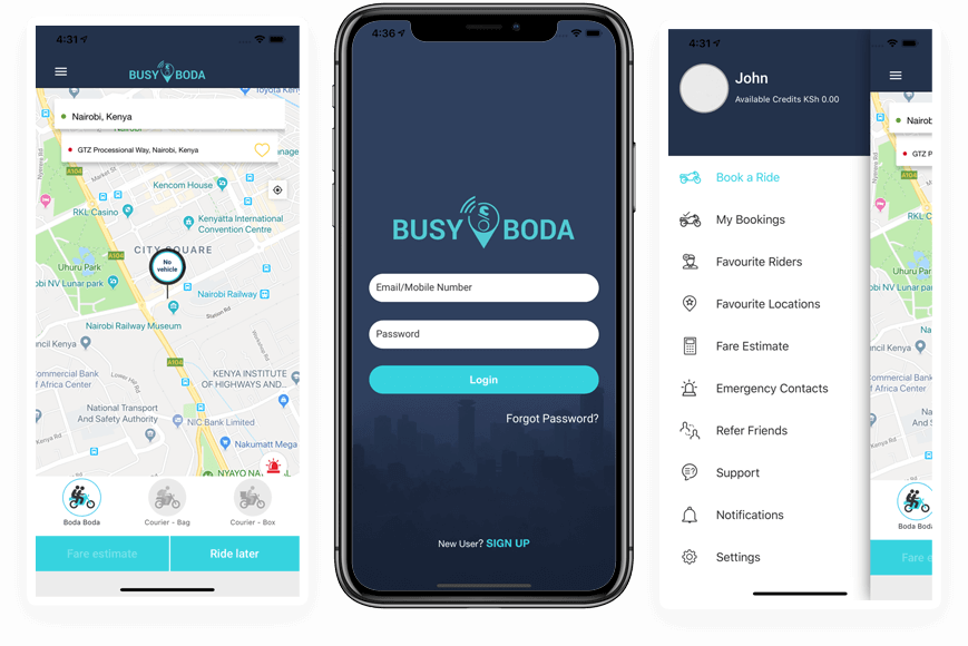 Admin Panel of BusyBoda