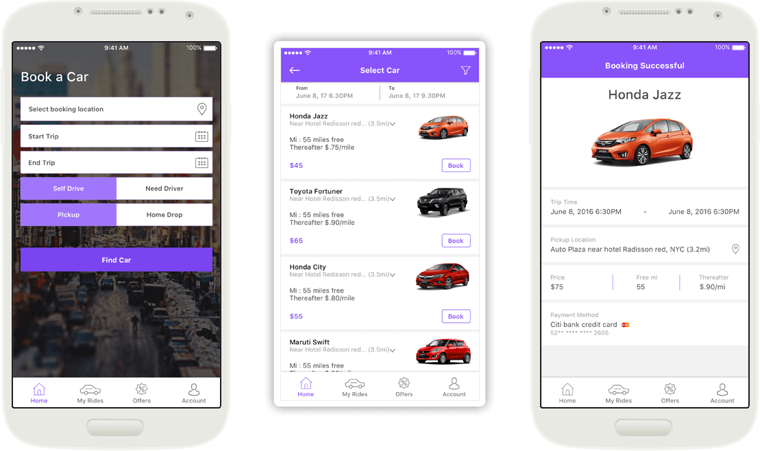 car rental app development solution by mobisoft infotech