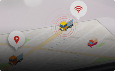 Vehicle fleet tracking on a map