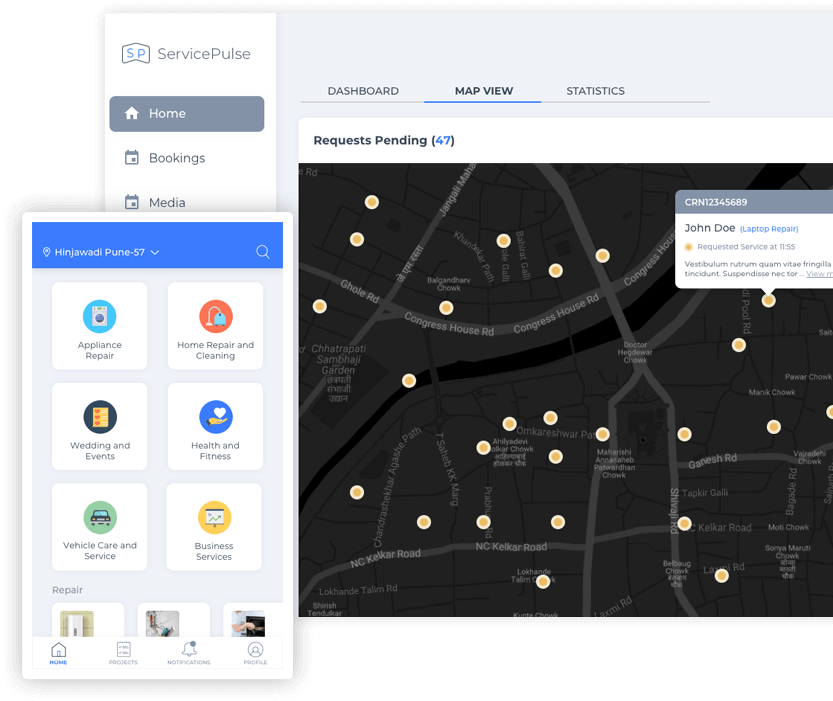 Home service app Implementation & Launch mobisoft infotech