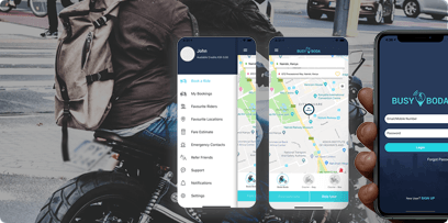 Motorbike hailing and on-demand courier solution for Kenya, case study Mobisoft Infotech