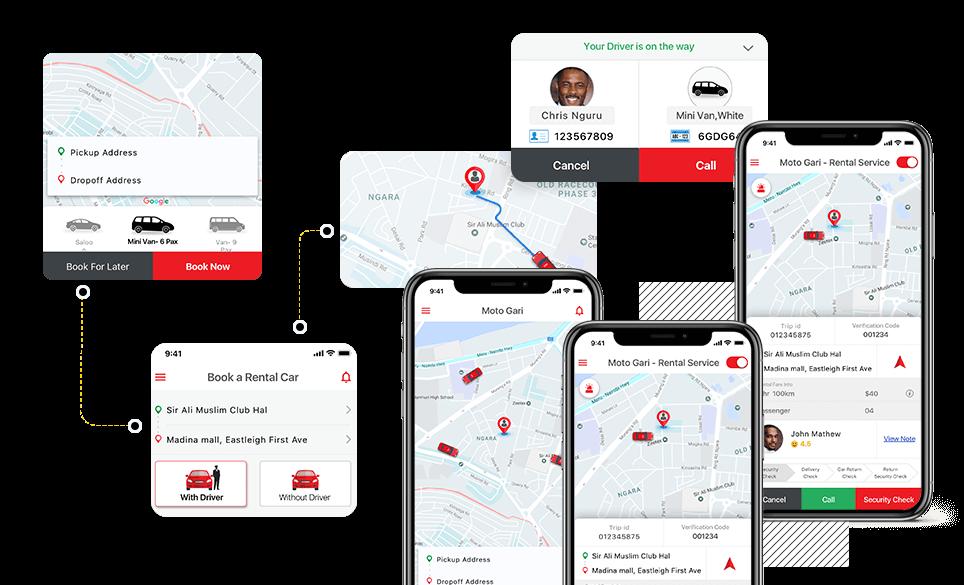 MotoGari - Transportation Solution - Car Rental Service