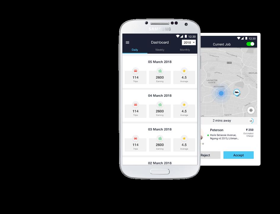 NEMT driver app by Mobisoft Infotech