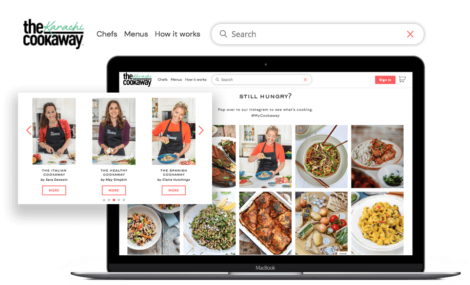 The Cookaway - On-demand recipe box delivery platform in UK.