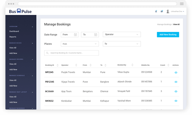 redbus clone app development solution platform admin panel mobisoft infotech
