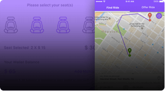 Rideshare app by Mobisoft Infotech