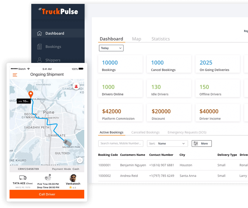 truck app solution implementation by mobisoft infotech