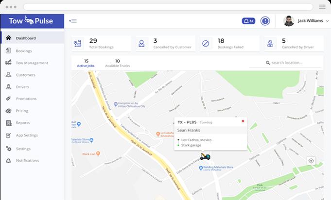 Tow truck admin app mobisoft infotech