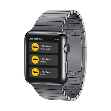 Wearable App Book-a-Taxi developed by Mobisoft-Infotech