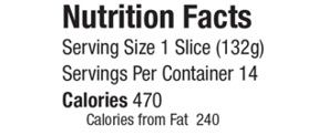 Gives nutrition facts features and benefits