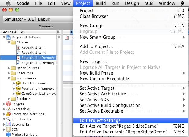 iPhone Regular Expression Tutorial: RegexKitLite Framework