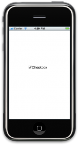 iPhone UIButton tutorial : Custom Checkboxes(CheckBox Ticked)
