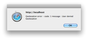 HTML5 Geolocation Error Example