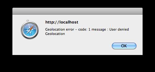 HTML5 Geolocation Error Example