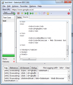 One can also view the source code of recorded script which will appear as given below
