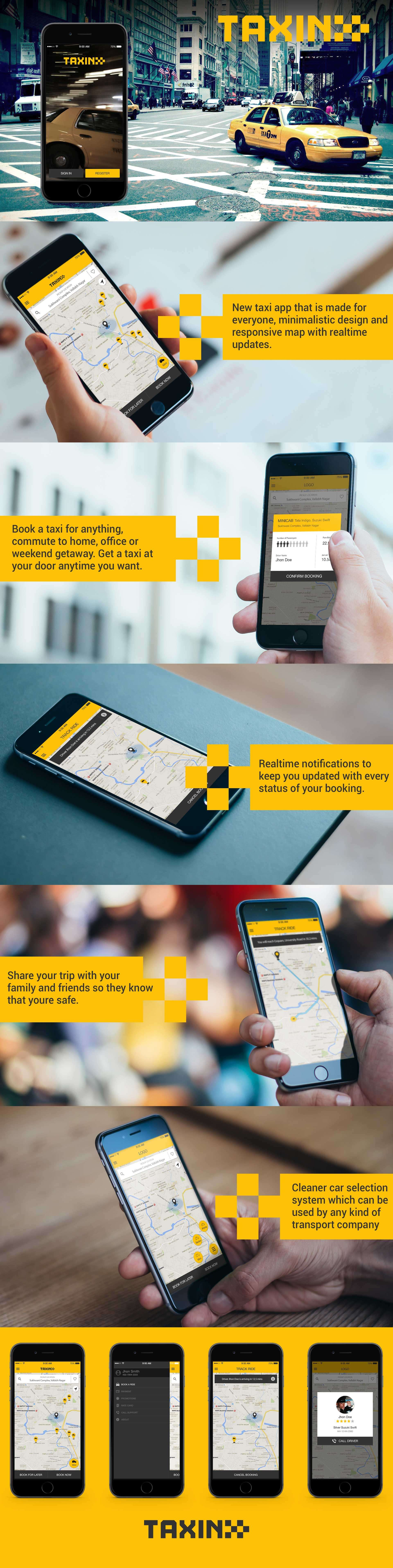Taxin App Free PSD Download