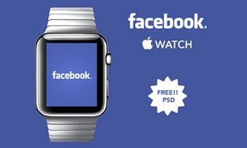 Free Facebook Apple Watch PSD