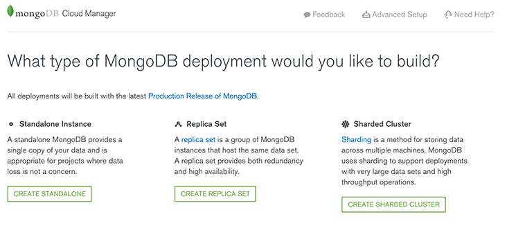 mongocm-deployment type