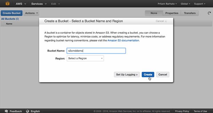 create a bucket mobisoft-infotech