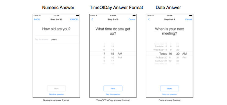 survey answer formats numeric answer-time of day answer-date answer format mobisoftinfotech