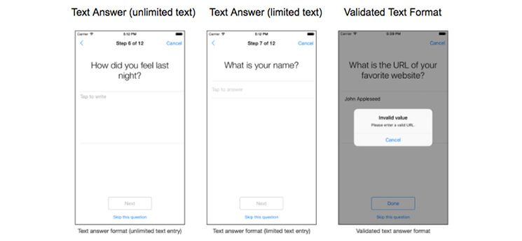survey answer formats unlimited text-limited text-validated text answer format mobisoftinfotech