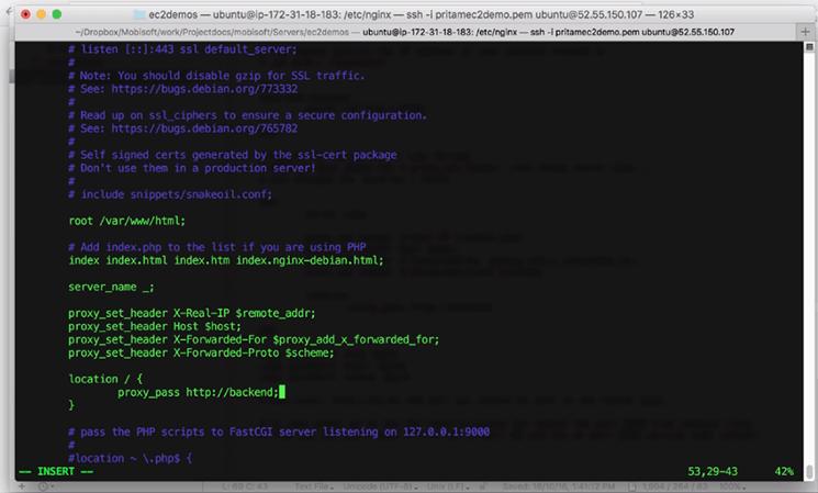 Modifying Location Block And Adding Proxypass Setting mobisoft infotech