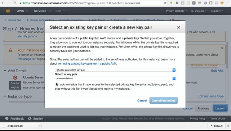 select a key pair mobisoft infotech