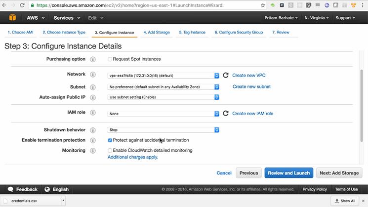configure instance details mobisoft infotech