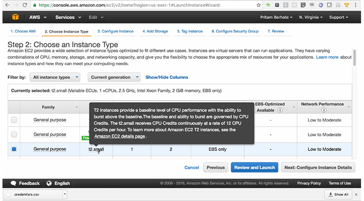 select an instance type mobisoft infotech