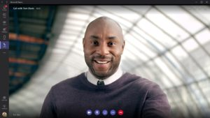 microsoft teams video call interface