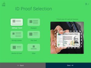 id proof selection screen visitor management app mobisoft infotech