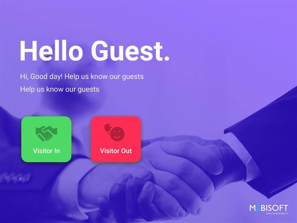 ipad visitor management system mobisoft