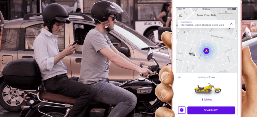 on demand bike taxi app development