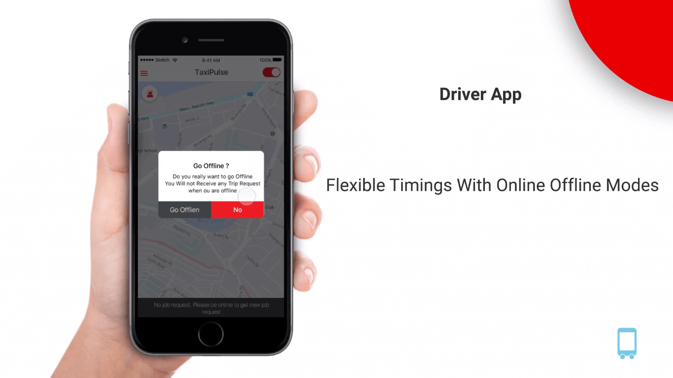 taxi dispatch app availability feature