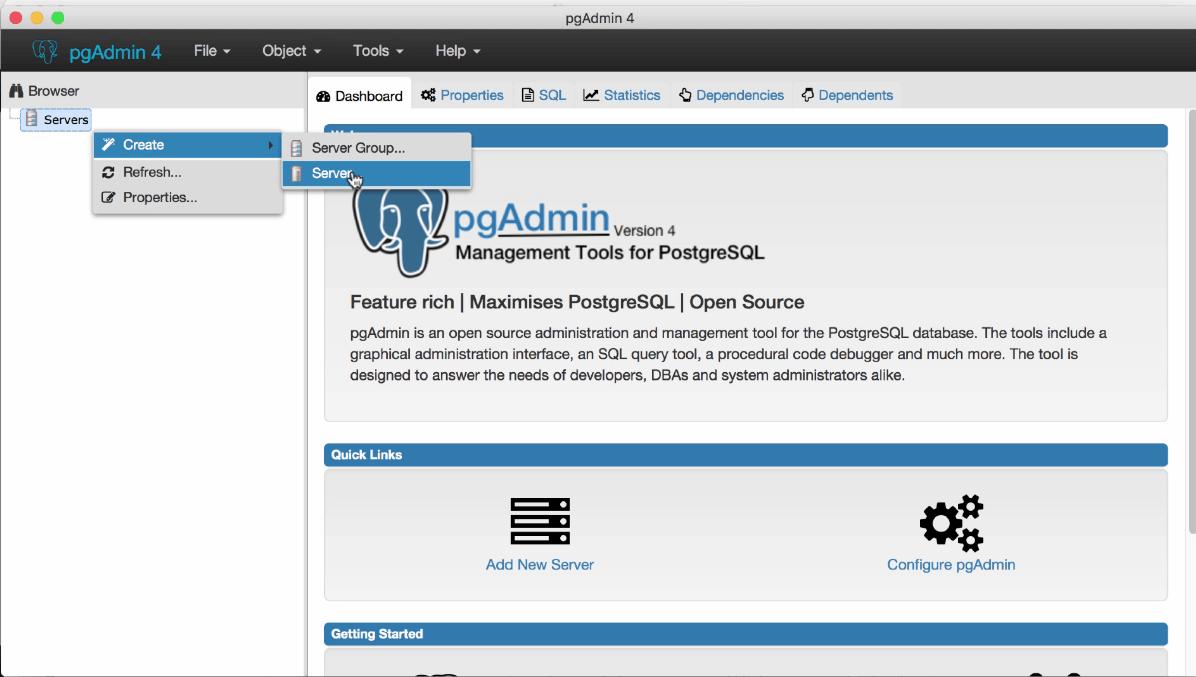 How to Setup a PostgreSQL Server for Development Deployment?