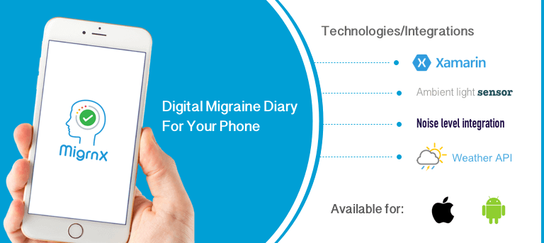 MigrnX migraine tracking and diary app technology