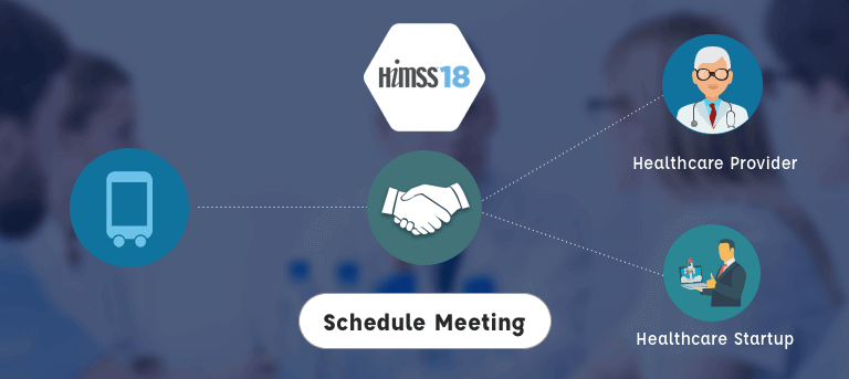schedule a meeting at himms18 with mobisoft infotech