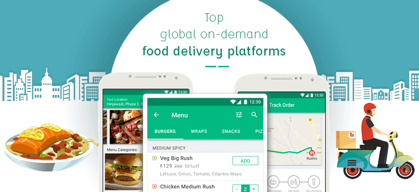 List of Top On-Demand Food Delivery Startups Across the Globe