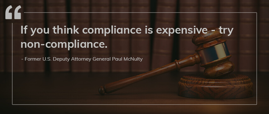 importance of compliance quote