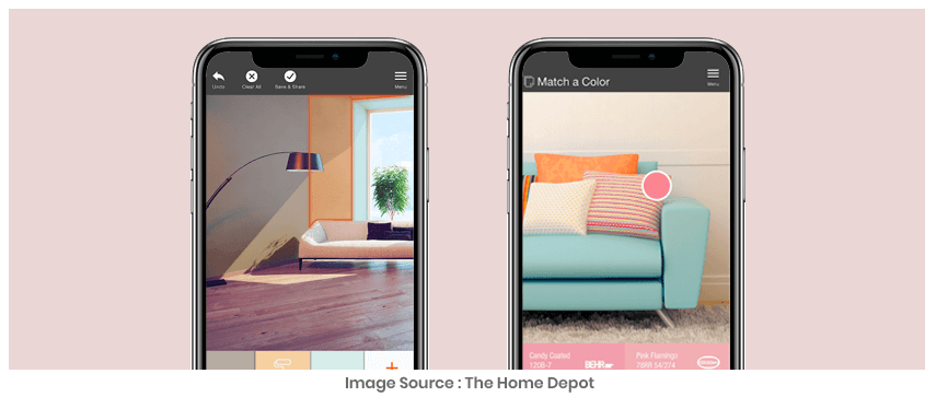 home depot augmented realty retail app example
