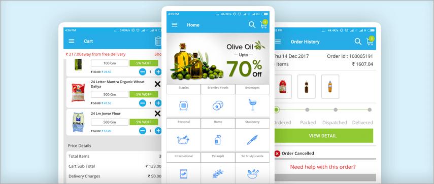 Bazaar Cart  app
