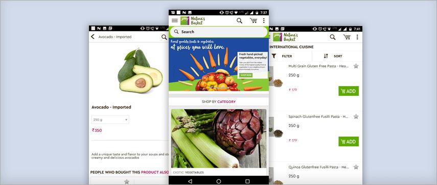 Nature's Basket app