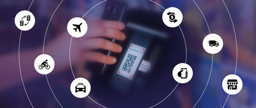 QR codes utilized in diverse industries