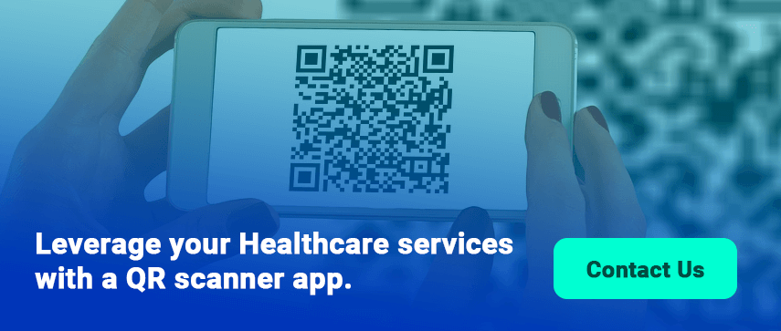 Healthcare services with a QR scanner app