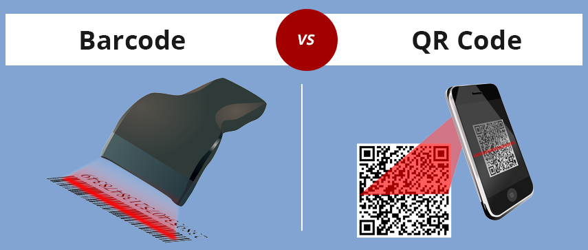 difference between QR code and barcode