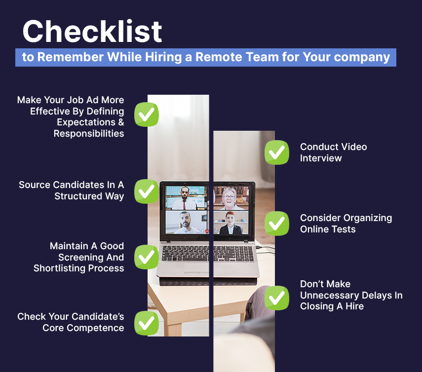 checklist to hire a remote team for your company